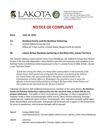 Lakota Notice